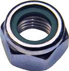 DIN 985 — гайка низкая самоконтрящаяся со стопорным кольцом.
