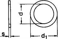 DIN 988 — шайба регулировочная плоская, разной толщины.