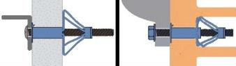 Принцип работы дюбеля для листов и пластин из стали и металла