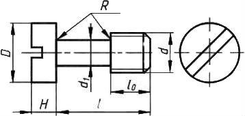 Винт невыпадающий ГОСТ 10337-80 — размеры и характеристики.