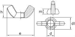 Гайка барашковая ГОСТ 3032 — размеры и характеристики.