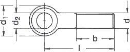 Болт откидной ГОСТ 3033-79 — размеры характеристики.