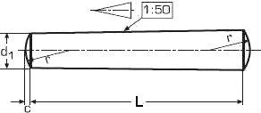 Штифт конический ГОСТ 3129-70 — размеры и характеристики.