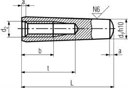 Штифт конический ГОСТ 9464-79 — размеры и характеристики.