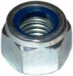 ISO 10512 — гайка шестигранная с нейлоновым кольцом.