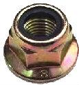 ISO 12125 — гайка шестигранная самоконтрящаяся с нейлоновым кольцом и фланцем.