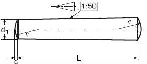 Штифт ISO 2339 — размеры и характеристики.