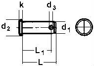 Штифт ISO 2341, размеры и характеристики.