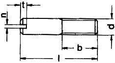 Винт установочный ISO 2342 — размеры и характеристики.