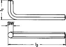 Ключ шестигранный ISO 2936 — размеры и характеристики.