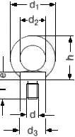 Рым-болт ISO 3266 — размеры и характеристики.