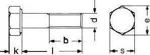 Болт с шестигранной головкой ISO 4014 — размеры и характеристики.