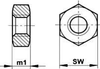 Гайка шестигранная ISO 4032 — размеры и характеристки.