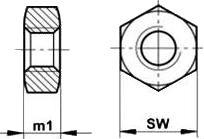Гайка резьбова ISO 4036 — размеры и характеристики.