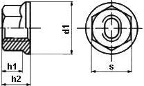 Гайка резьбовая ISO 4161 — размеры и характеристики.