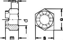 Гайка прорезная ISO 7035 — размеры и характеристики.