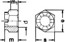 Гайка прорезная ISO 7036 — размеры и характеристики.