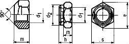 Гайка самоконтрящаяся ISO 7042 — размеры и характеристики.