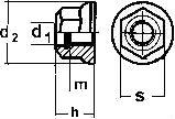Гайка самоконтраящаяся ISO 7043 — размеры и характеристики.