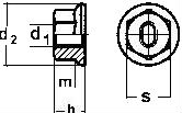 Гайка самоконтрашаяся ISO 7044 — размеры, характеристики.