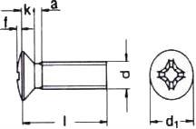 Винт с полупотайной головкой ISO 7047 — размеры и характеристики.