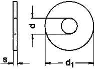 ISO 7094 — характеристики размеры. Круглая шайба.