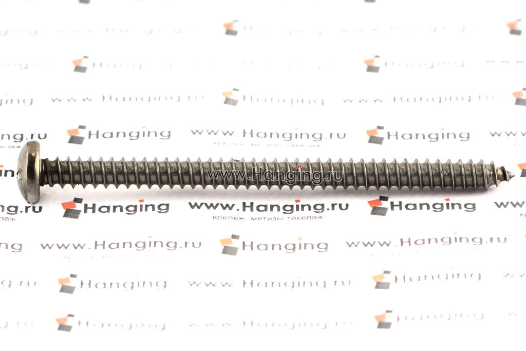 Саморез с полукруглой головкой из нержавеющей стали А4 по стандарту DIN 7981