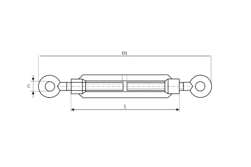 Схема и характеристики талрепов кольцо кольцо М5