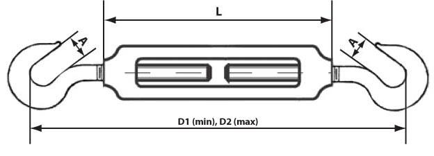 Схема талрепа крюк-крюк