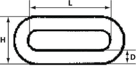 Схема оцинкованной цепи длинное звеном 8