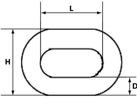 Схема сварной цепи с коротким звеном 19