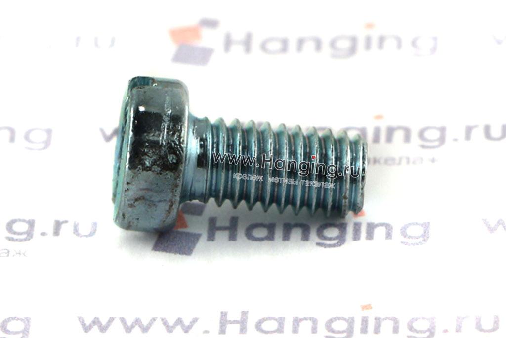 Цилиндрическая головка с прямым шлицем оцинкованного винта DIN 84