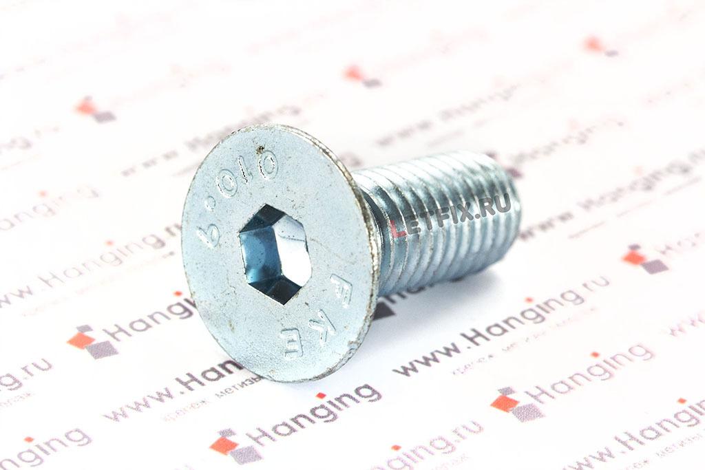 Оцинкованный Винт ГОСТ Р ИСО 10642-2012 (ISO 10642) и DIN 7991 с потайной головкой и внутренним шестигранником класса прочности 10.9