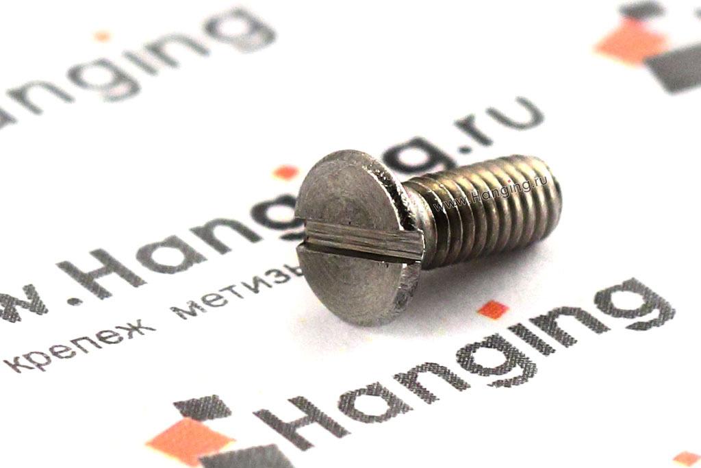Винт с потайной головкой и прямым шлицем из нержавеющей стали А2 по ГОСТ 17475-80 и DIN 963