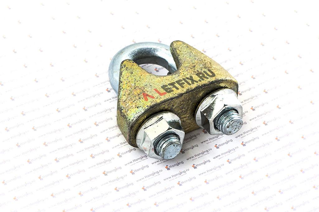 Зажим канатный оцинкованный стальной DIN 1142