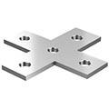 Угловой Х-образный соединитель для STRUT профиля