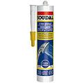 Белый санитарный силиконовый герметик 280 мл Soudal Санитарный силикон (105896)