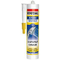 Серый санитарный силиконовый герметик 280 мл Soudal Санитарный силикон (104495)