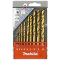 Набор сверл по металлу HSS-TiN Makita D-43561 (10 штук) 1-10 мм