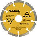 Сегментный алмазный диск Макита B-28086 115х22,23 по бетону и кирпичу