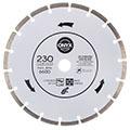 Сегментный алмазный диск Onyx 230х2,8х22,23/7 по бетону и кирпичу