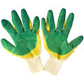 Хлопчатобумажные перчатки (5 нитей) с двойным обливом латексом