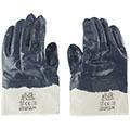 Хлопчатобумажные перчатки (5 нитей) с нитриловым покрытием, синие