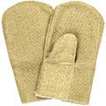 Рабочие брезентовые огнеупорные рукавицы