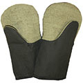 Теплые рабочие рукавицы (х/б с брезентовой ладонью)